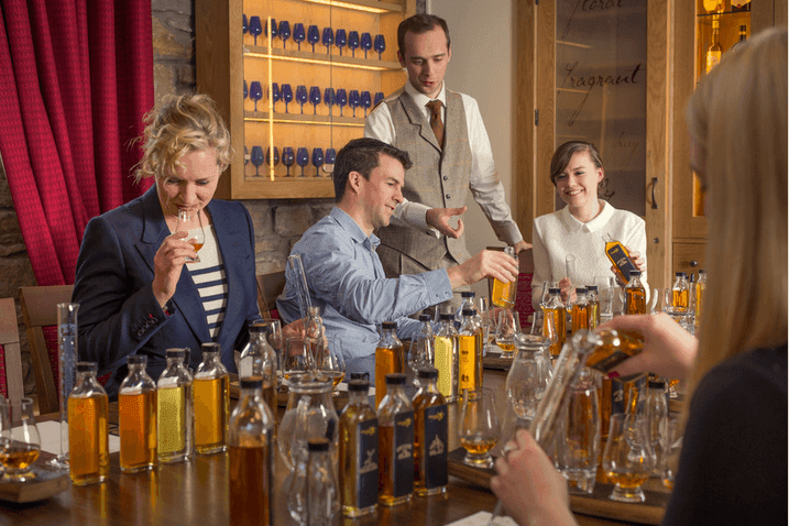 Classic comparative whisky tasting